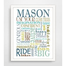 Finny and Zook Personalized Boy Rules Paper Print & Reviews | Wayfair