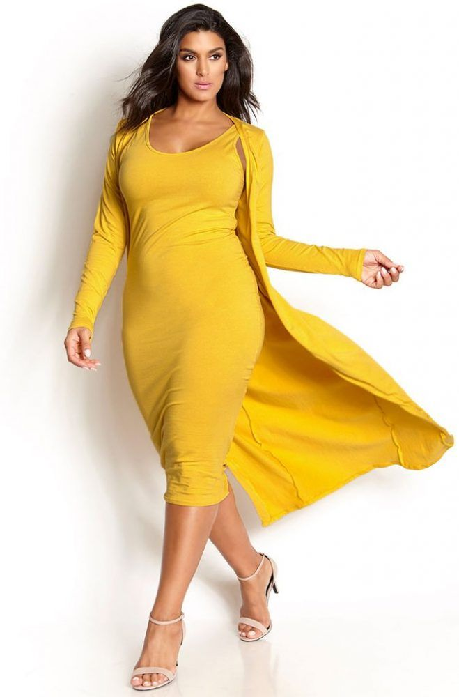Inspired: We Love the Bodycon and Cardigan Combo- Do You? http://thecurvyfashionista.com/2017/05/bodycon-cardigan-plus-size-style/ Are you a fan of the bodycon and cardigan combo? So are we! We picked out a few of our favorite plus size combos. Take a look for some inspiration!