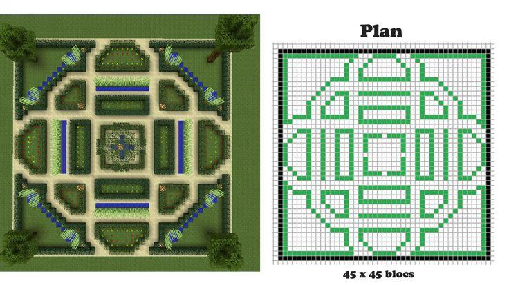 minecraft blueprints | Pour faciliter la construction, je réalise tout d'abord un plan sur ...