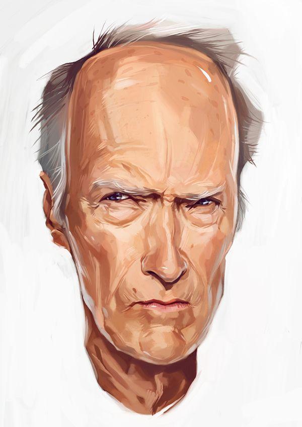 Clint Eastwood by Viktor Miller Gausa                                                                                                                                                                                 Plus