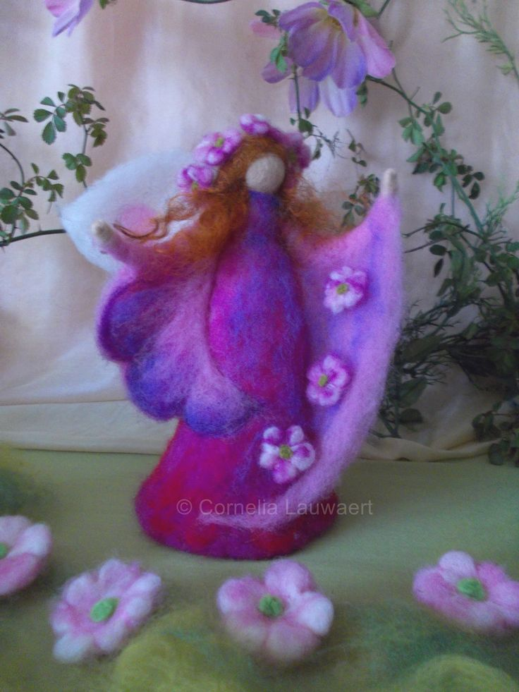 Filzset Rosa Blumenfee mit Anleitung farbtraeume.me