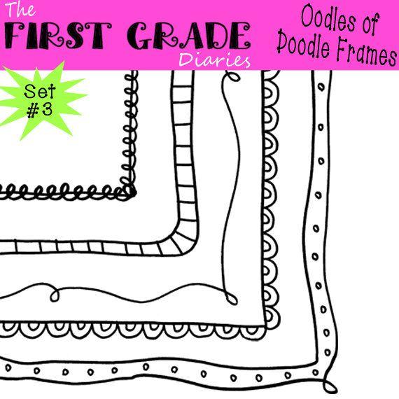 Oodles of Doodle Frames Digital Borders Set 3 -- Buy 2 GET 1 FREE