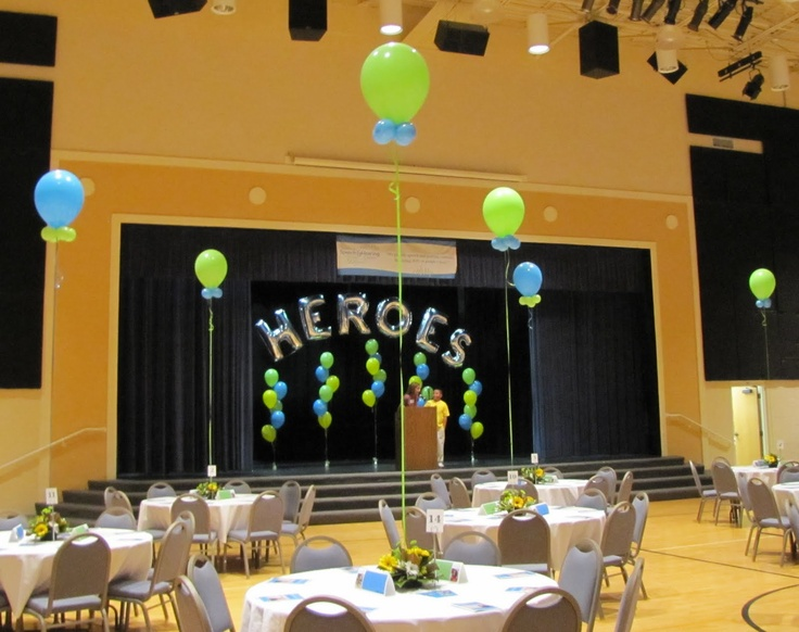 14 best images about gymdecorations on pinterest tissue for Balloon decoration companies