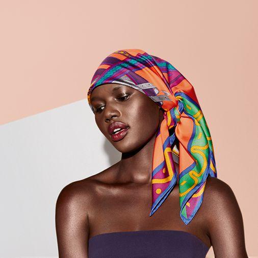 Balade en Berline\u0026quot;, silk twill scarf, 90 x 90 cm ...