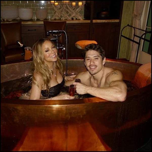 Mariah Carey s'éclate dans son bain avec un bikini en cristal vraiment très bizarre