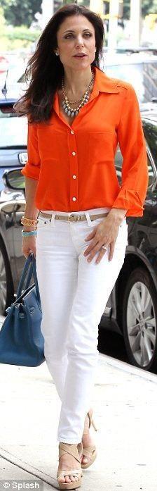 Orange, white