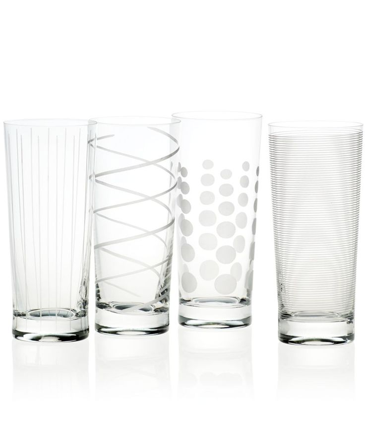 """Mikasa """"Clear Cheers"""" Highball Glasses, Set of 4 - Glassware - Dining & Entertaining - Macy's"""