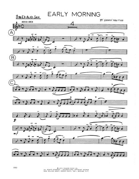 Early Morning - 3rd Eb Alto Saxophone