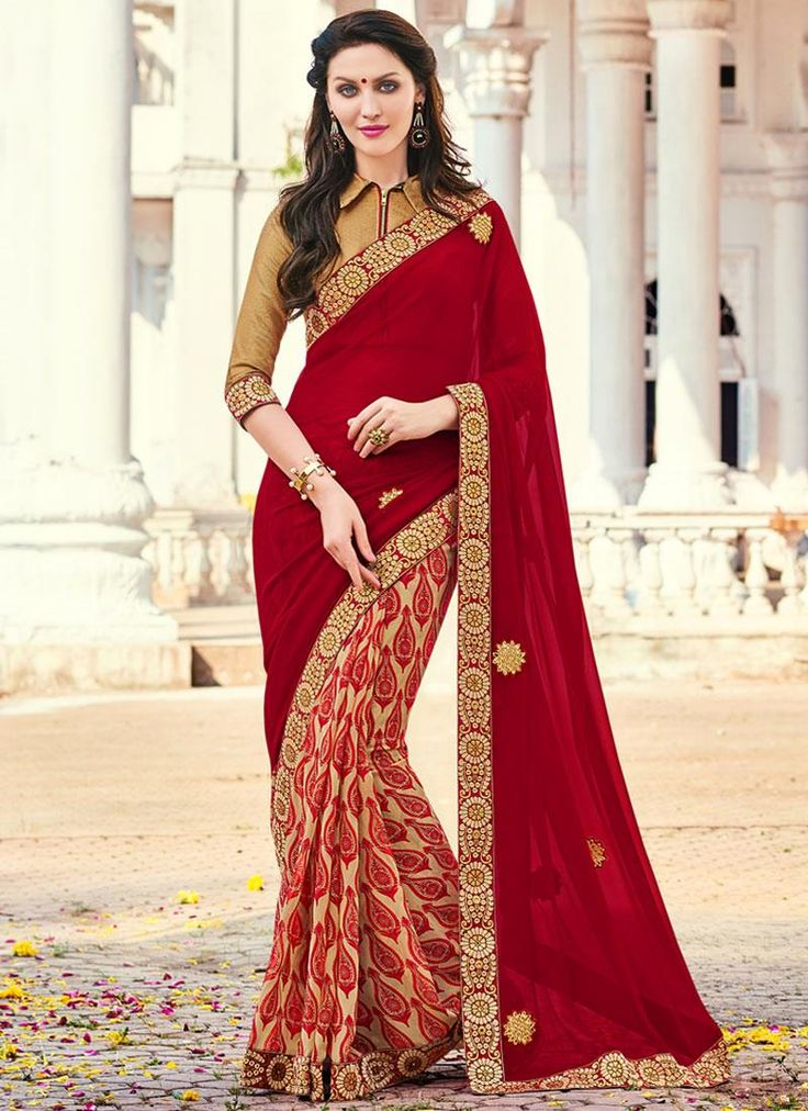 Sophisticated Georgette Multi Colour Printed Saree