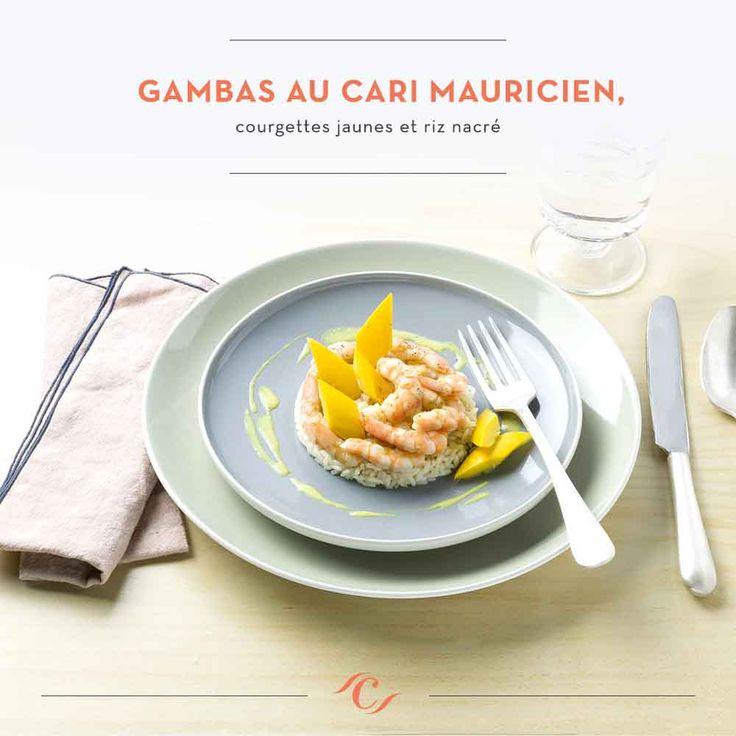[Carte Enchantement Quotidien] Gambas au cari mauricien, courgettes jaunes et riz nacré