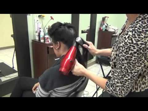 DOMINICAN BLOWOUT PROCESS @ LUCYS SALON - YouTube