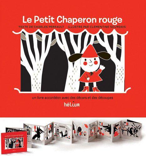 Livre accordéon (exemple : Le petit chaperon rouge)