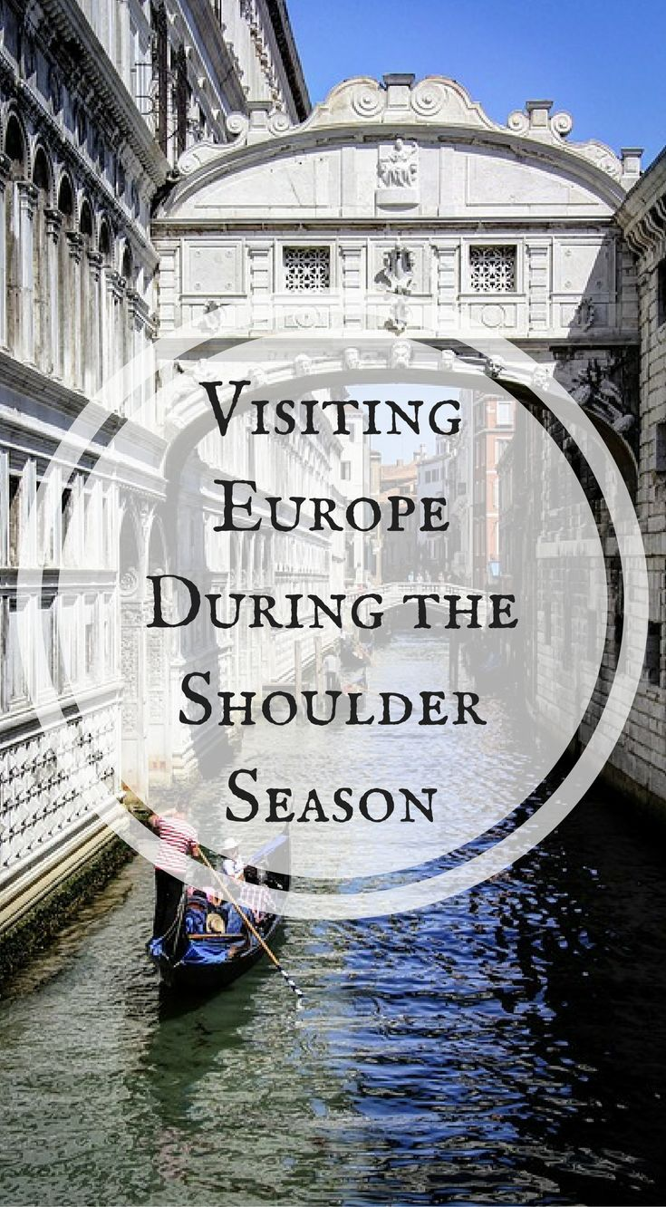 Visiting Europe During The Shoulder Season. Shoulder season is typical from April to mid-June and September to early November. Shoulder season varies by destination through all of Europe and is a good choice if you have time during these periods. Click to read When is the Best Time to Visit Europe? http://www.divergenttravelers.com/best-time-to-visit-europe/