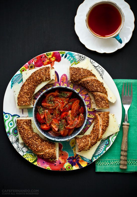 Sourdough Simit Kaşar - recipe is for the bread, but love the sound of the side dish too!