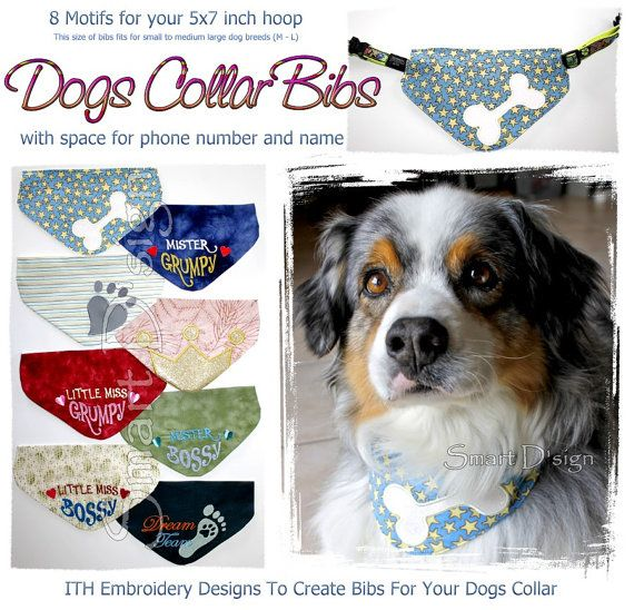 Reversible Embroidered Dog Bandana Medium Size Over the Collar Cotton Stay Pawsitive