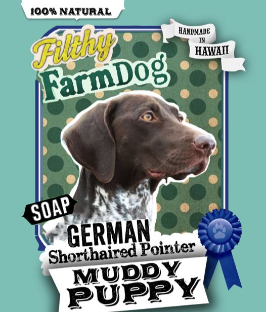 German Shorthaired Pointer Muddy Puppy Dog Soap