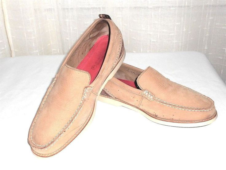 Sperry Top Sider Men's Tan Suede Leather Deck Casual Loafer Shoe Size 9.5 M #SperryTopSider #DeckCasualLoafer