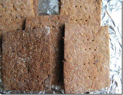 Ik heb een tijdje Graham Crackers gemaakt en ik vond ze heerlijk, ik ben wel van de lekker krokante koekjes (kun je ook goed soppen ;)), maar toen ik een pindakaas variant van de Graham Cracker zag…