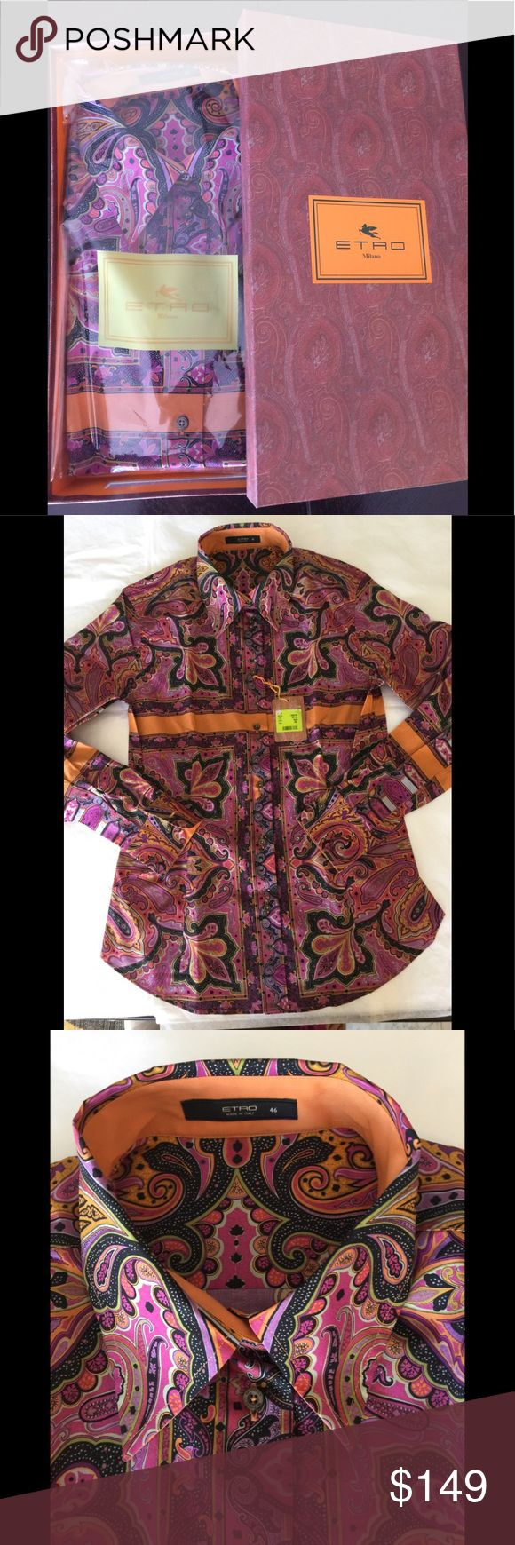 ETRO Italy lady's button down shirts size 46 Nice paisley button down shirts size 46 Brand new w/box Etro Tops Button Down Shirts