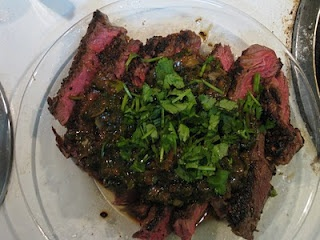 Coriander-Crusted Steak with Miso Butter Sauce