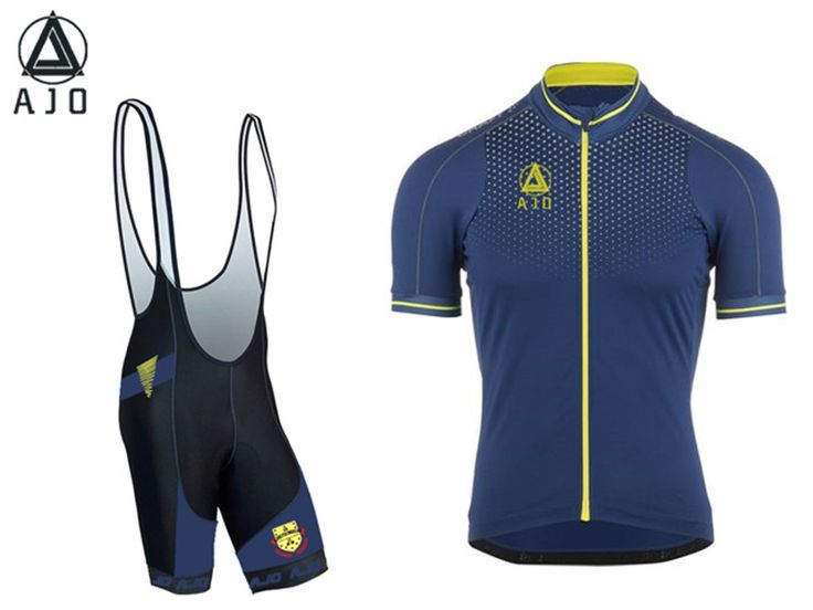 AJO team in 2016 bicycle sweater with short sleeves pro cycling clothing transpirable rapid drying clothes mountain biking sport