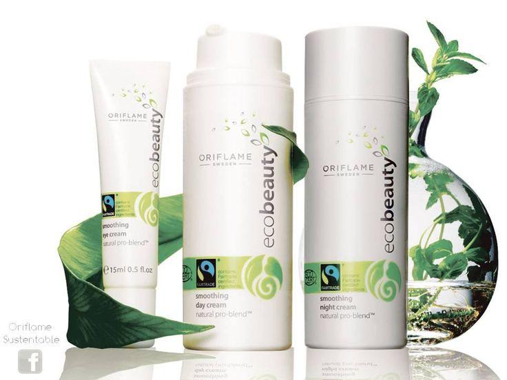 Los productos Ecobeauty by Oriflame son apropiados para vegetarianos estrictos y llevan el sello de la Vegan Society.