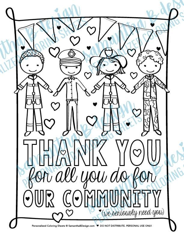 Community Helper Thank You Act Of Kindness Service Projects For Kids Kindness Projects Community Helper