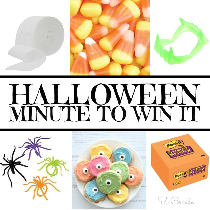 Halloween Minute To Win It Games using vampire teeth, spider rings and more!