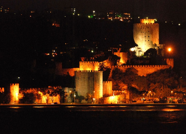 Rumeli Hisar, Istanbul, Turkey by Night