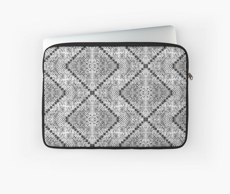 Laptop sleeves with a black and white pattern, perfect for day-to-day use @redbubble #technology
