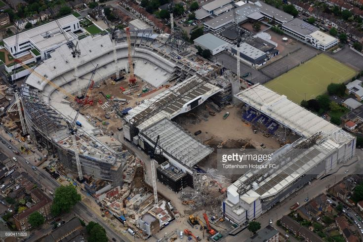 White Hart Lane, the home of Tottenham Hotspur FC is demolished as work continues on the new White Hart Lane redevelopment on May 23, 2017 in London, England.