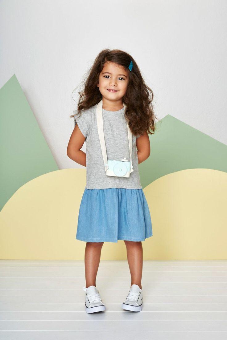 Woven Chambray Jersey Dress by Baobab Clothing ⌇ Juniors Design Blog ⌇ www.juniorsdesignblog.com