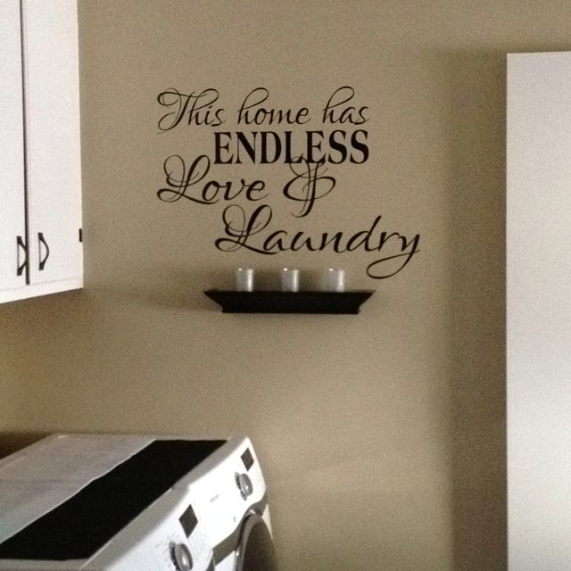 Laundry room ideas - could do this expression with uppercase living. to order go to erint78.uppercaseliving.net - #uppercaseliving