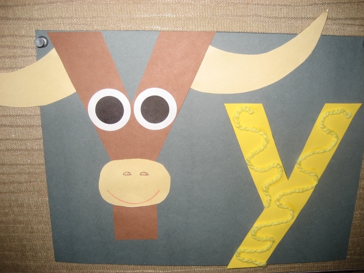 """""""Yy"""" Letter of the week art project"""