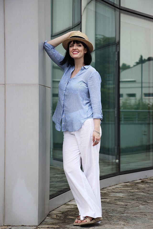Estremamente Oltre 25 fantastiche idee su Pantaloni di lino bianchi su  QP69