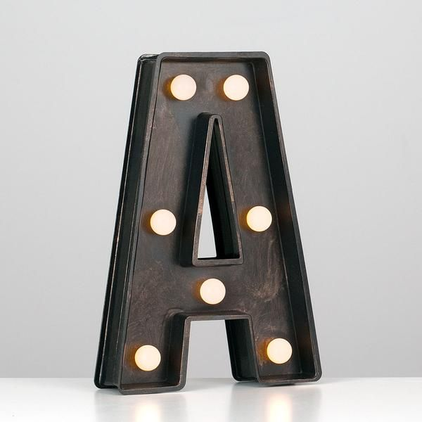 Bronze Letters Lights