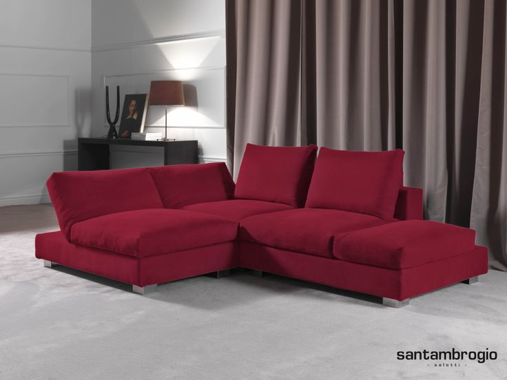 16 best divani in pelle images on pinterest sectional sofas green and apartment therapy - Divano in pelle rosso ...