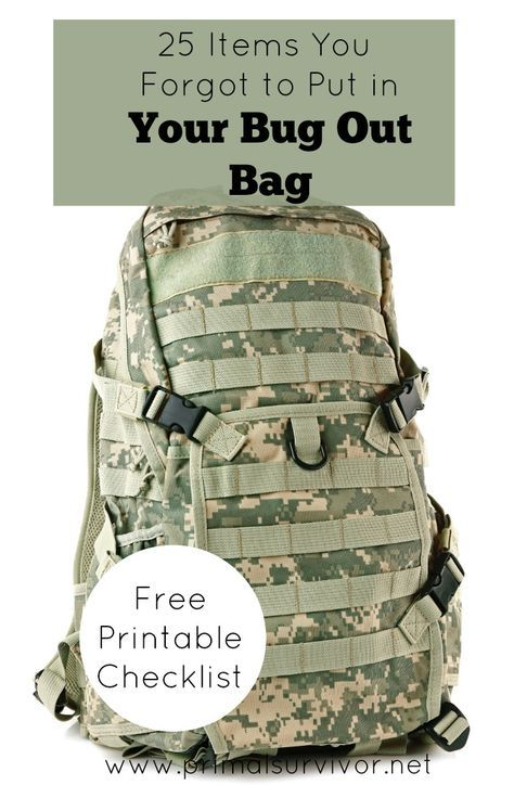 25 Items You Forgot to Put in Your Bug Out Bag