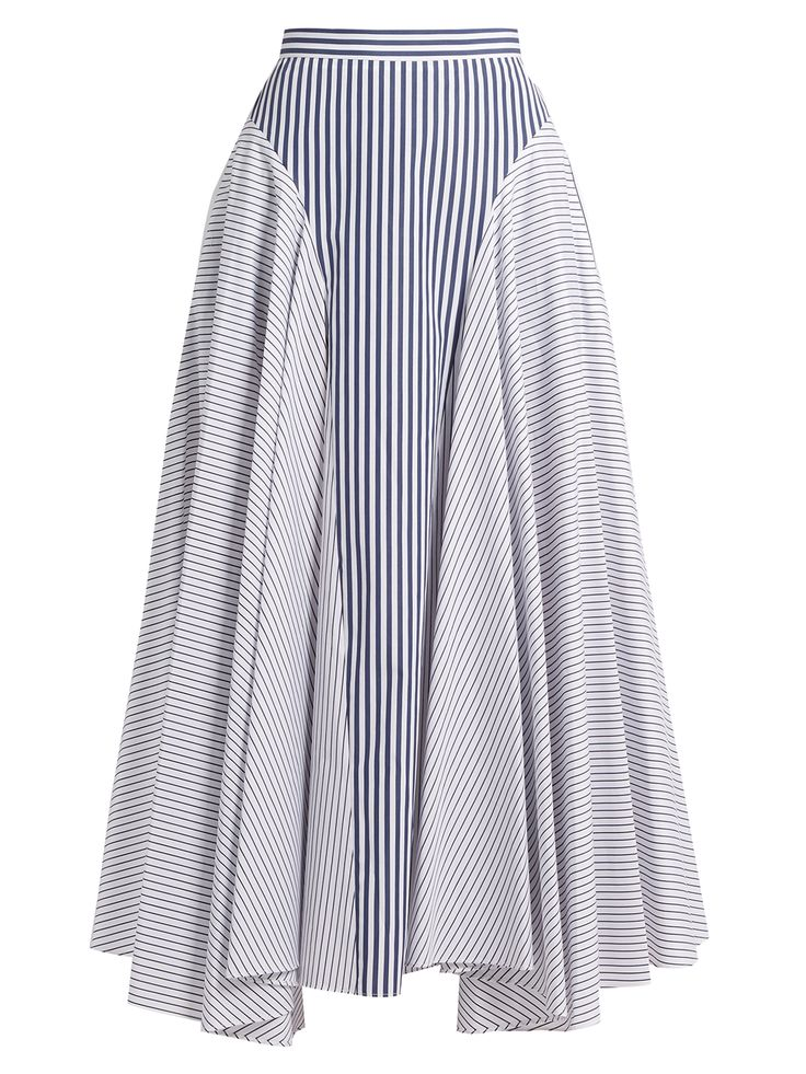 Click here to buy Adam Lippes Handkerchief-hem striped cotton skirt at MATCHESFASHION.COM