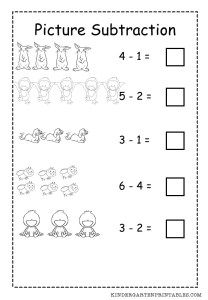 basic picture subtraction worksheet free to print at home worksheet free mathematics. Black Bedroom Furniture Sets. Home Design Ideas