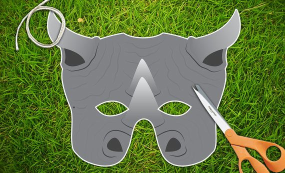 Rhinoceros Rhino Mask Printable