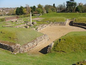Verulamium – The Catuvellauni tribe had a settlement named Verlamion. The Romans took it over, granting it the rank of municipium around 50 AD. It was sacked by Boudica's army and was the site of the martyrdom of the first British martyr saint, St. Albans.  Verulamium is sited in the southwest of the modern city of St. Albans.