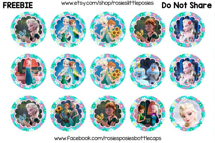 Click to download full size. Free bottle cap images. Frozen Fever, Anna, Elsa.