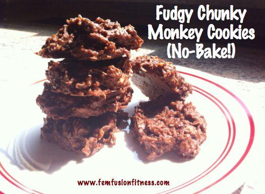 Fudgy Chunky Monkey Cookies - paleo and vegan