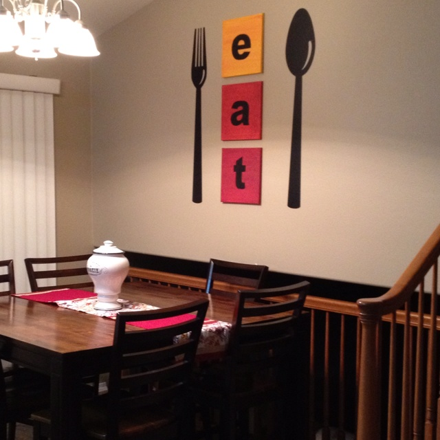 Dining Room Wall Art Have Found Big Silverware At A Couple Of