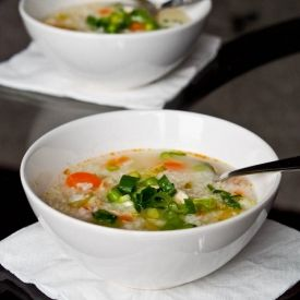 simple yet hearty bowl of chicken and rice soup to warm you up on a ...