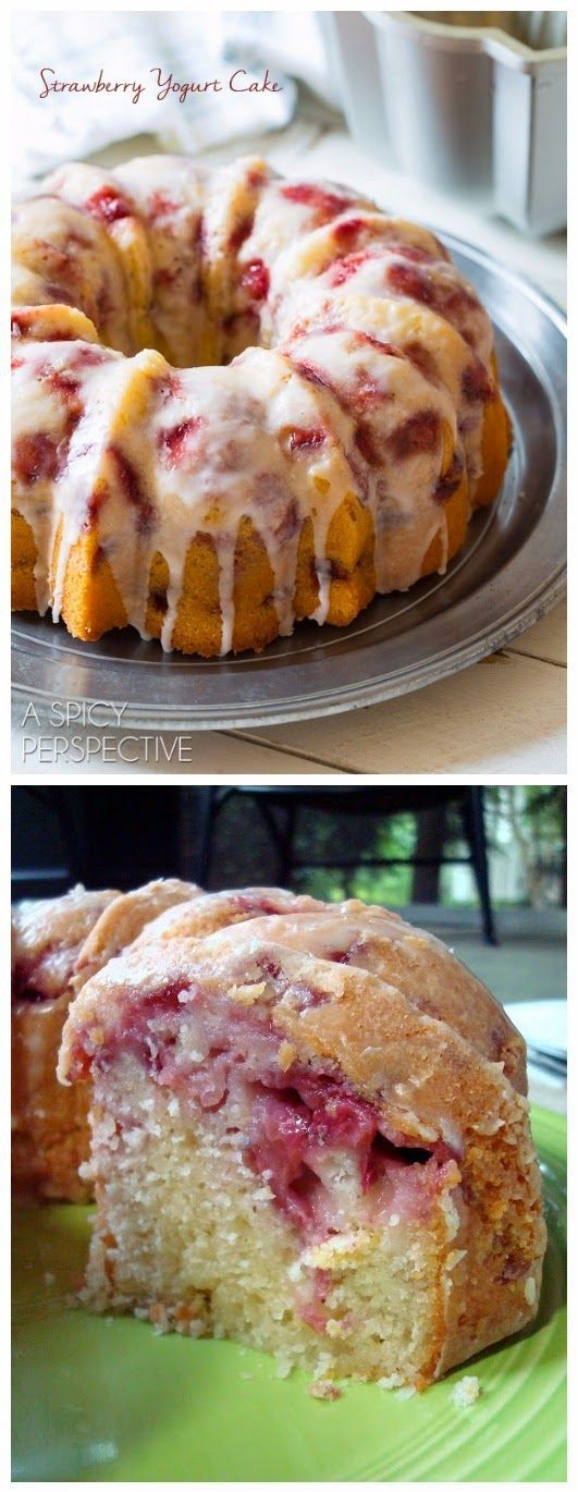 Recipe; Fresh Strawberry Yogurt Cake
