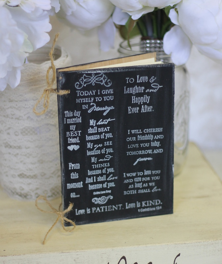 bridal shower keepsake book%0A Bridal Shower Guest Book Rustic Chic Wedding Decor Love Quotes          via  Etsy