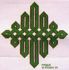 Celtic knot cross stitch design