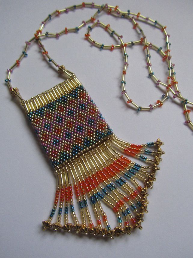 Beaded Amulet Purse Necklace £25.00